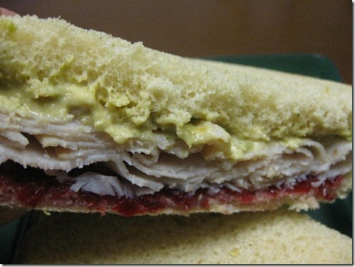 Spicy Hummus, Cranberry & Turkey Sandwich
