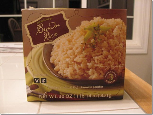 Trader Joe's Microwavable Brown Rice
