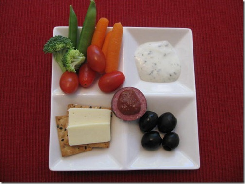 4 square Snack Plate