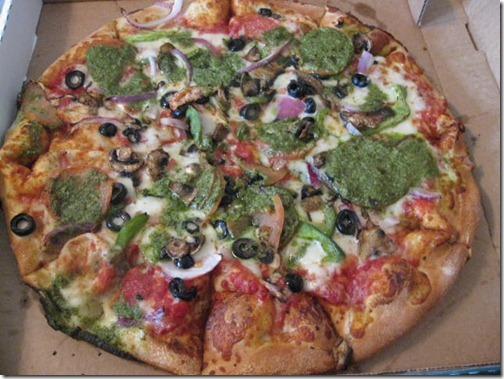 Basil Pesto Veggie Pizza