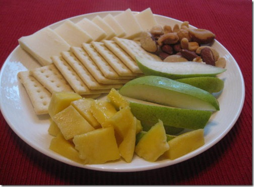 Nut and cheese platter