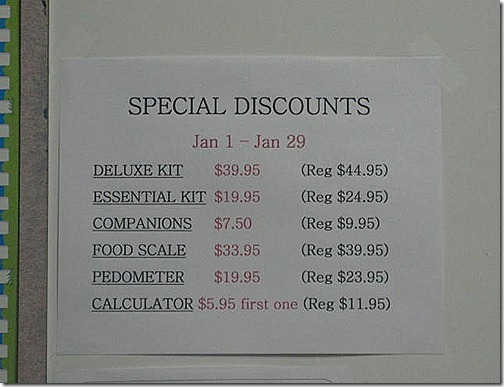 Weight Watchers Deluxe Kit Pricing