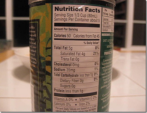 Coconut Milk Nutritional Information