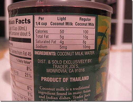 Light vs Regular Coconut Milk