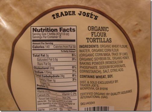 Corn Flour Tortillas