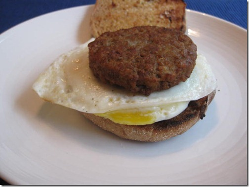 Weight Watchers Sausage and Egg Sandwich