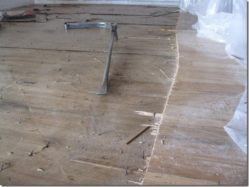 how to dig out a hard wood floor