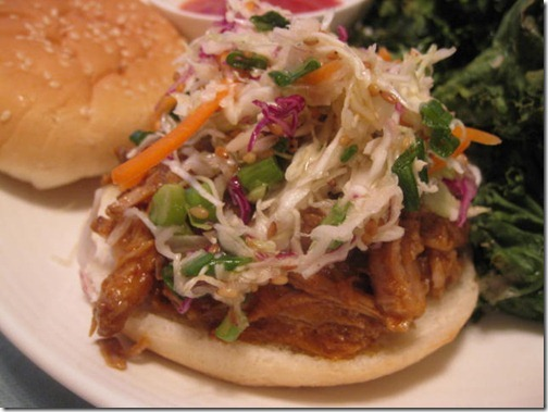 Crockpot Asian Slaw Sliders