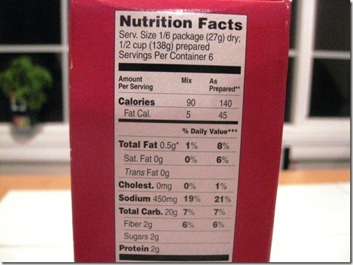 trader joes potato nutrition facts