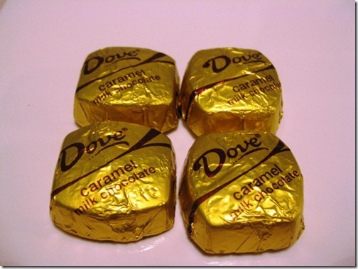 dove milk chocolate caramels