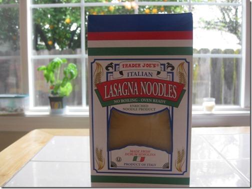 Trader Joe's Lasagna Noodles