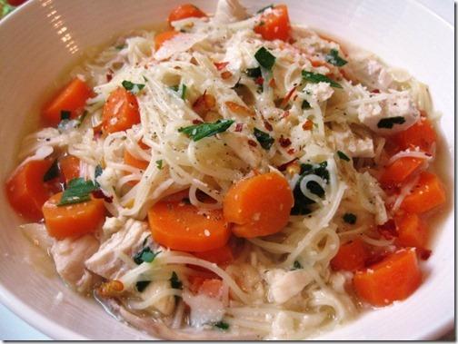 Giada's Lemon Chicken Soup with Spaghetti