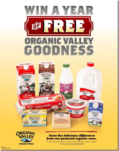 Win a 1 Year Supply of Organic Valley