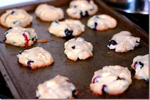 Blueberry lemon and white chocolate chunk cookies
