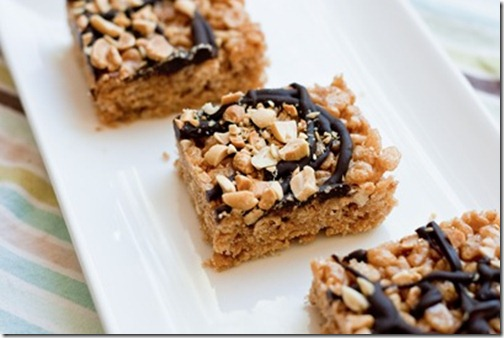 Peanut Butter Brown Rice Crunch Bars
