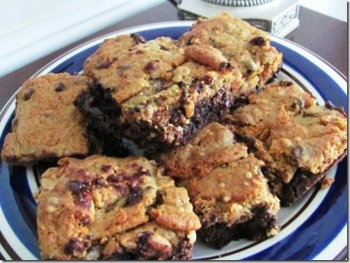 toffee chocolate chip cookie brownie bars