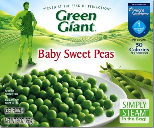 Green Giant Baby Sweet Peas Simply Steam