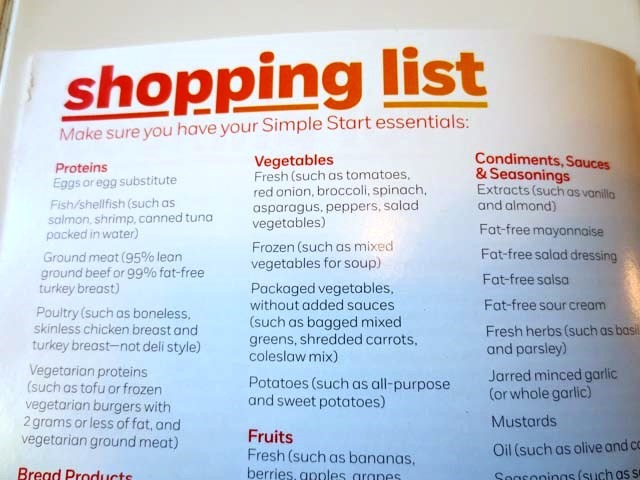 weight watchers simple start menu pdf